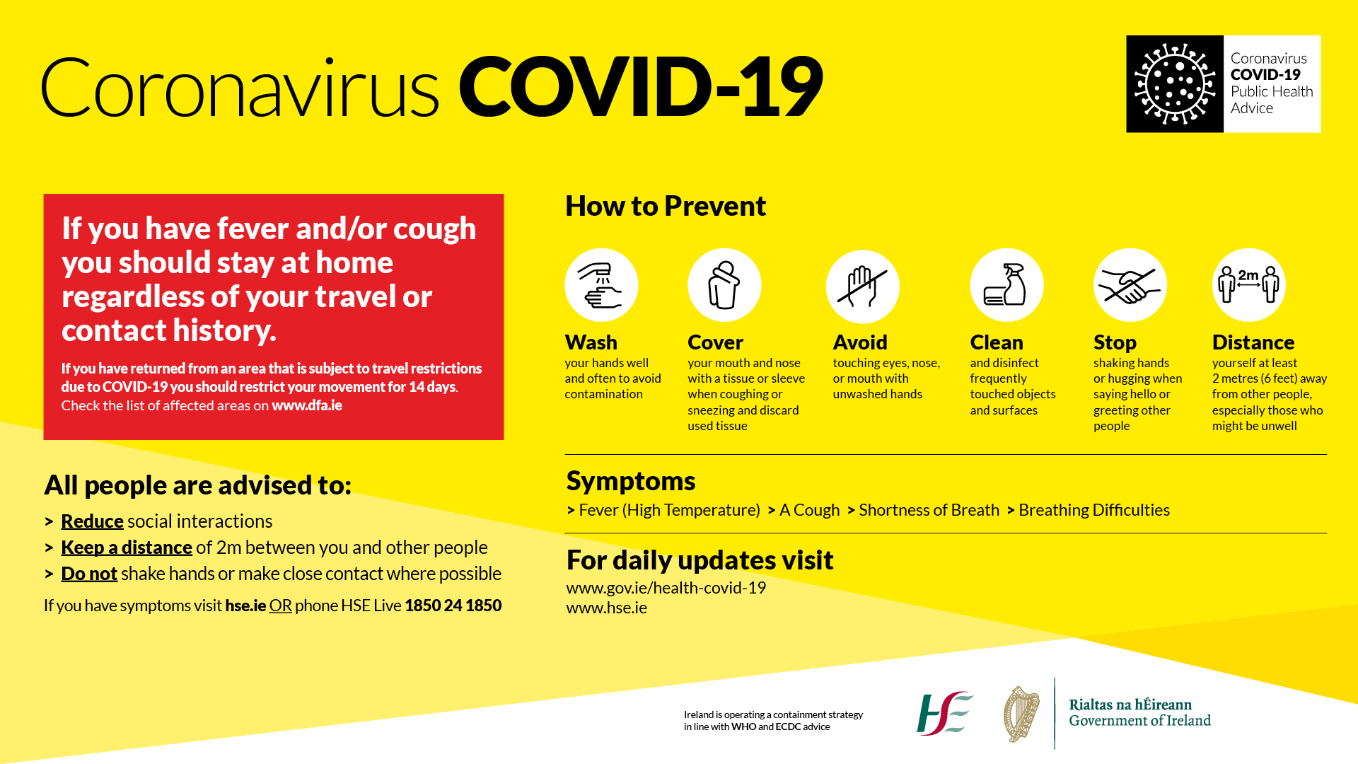 Updated Covid-19 Public Information Posters | Ennis Chamber of ...